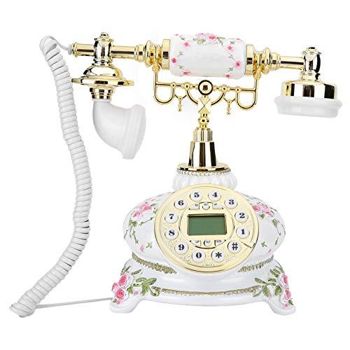 Deansh Teléfono Vintage, teléfono de marcación Retro para Oficina en casa, teléfono Fijo Antiguo para Sala de Estar, Dormitorio, Sala de Estudio, Oficina y decoración clásica