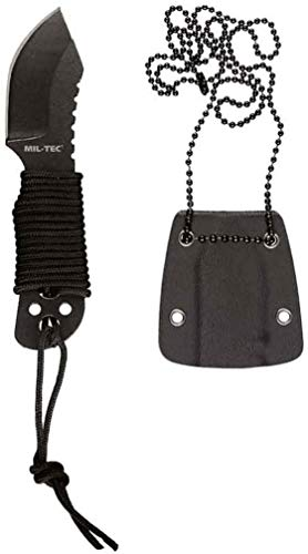 Mil-Tec Neck Knife Paracord m. Kette 10,5cm
