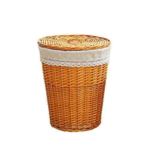 Therryley Organizer Cestas de Almacenamiento Willow Woven Extra Large, cesto de algodón...