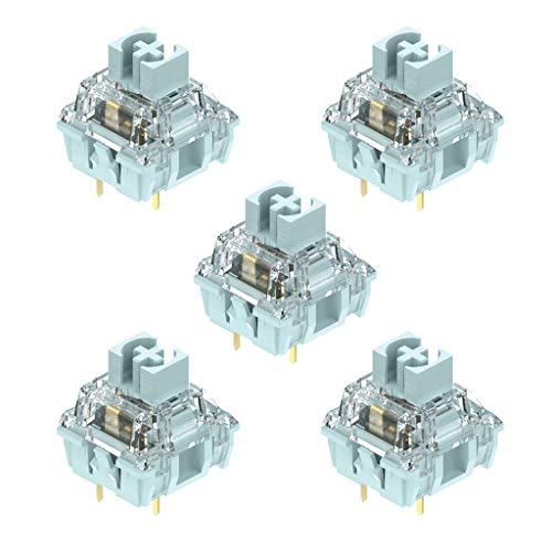 TSBB 5 unids/Pack TTC Interruptor Blanco Azulado interruptores lineales para Interruptor de Teclado mecánico