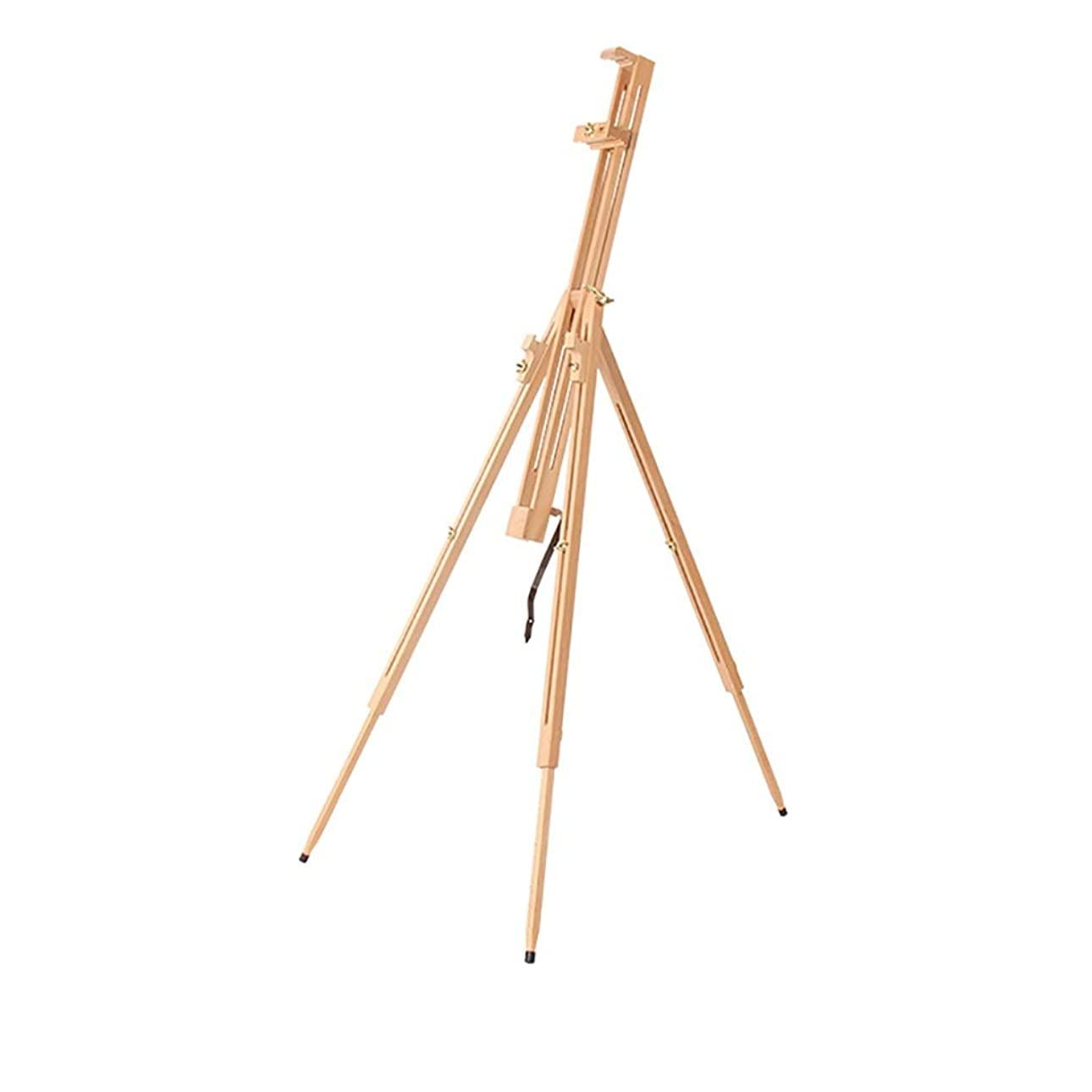 スーツケース豊富な丁寧頑丈で丈夫 純正木製折りたたみ式三角形イーゼル学生スケッチイーゼル木製ディスプレイスタンド高さ調節可能80 * 76 *(123?182)cm