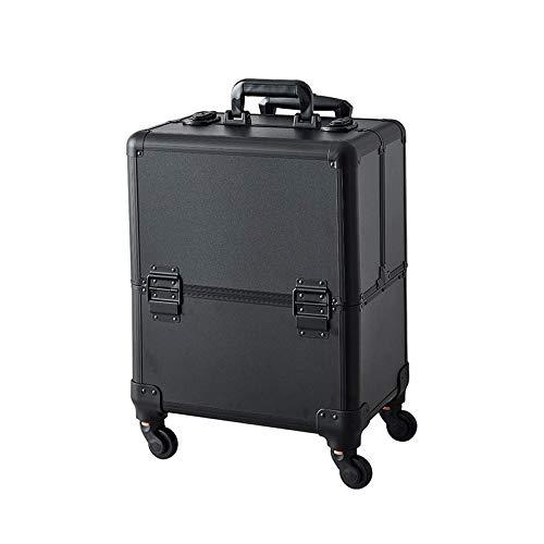 Kosmetikkoffer Trolley Abschließbarer Make-up Koffer mit 360°Drehbaren Rollen,Schminkkoffer Friseurkoffer fÜr Visagisten Fauay,B