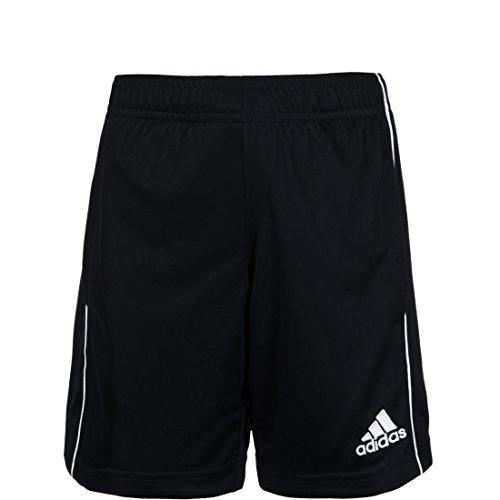 adidas Core18 Pantaloncini, Unisex Bambini, Nero/Bianco, 13-14