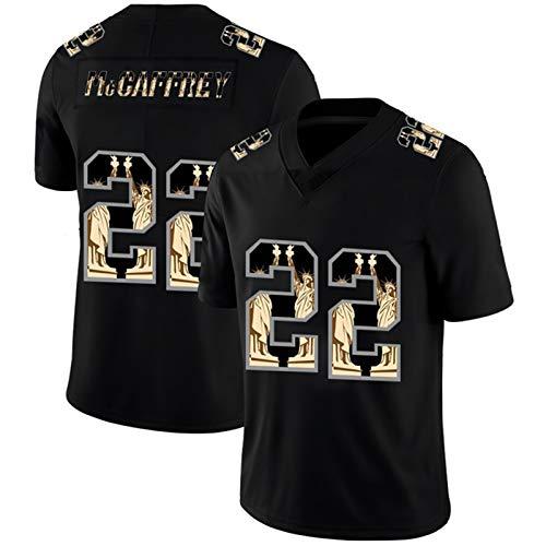 ILHF McCǎFFRěY # 22 Jersey de fútbol Americano - PǎNTHěrs Rugby Uniform Jerseys Camisetas Ropa,Negro,S