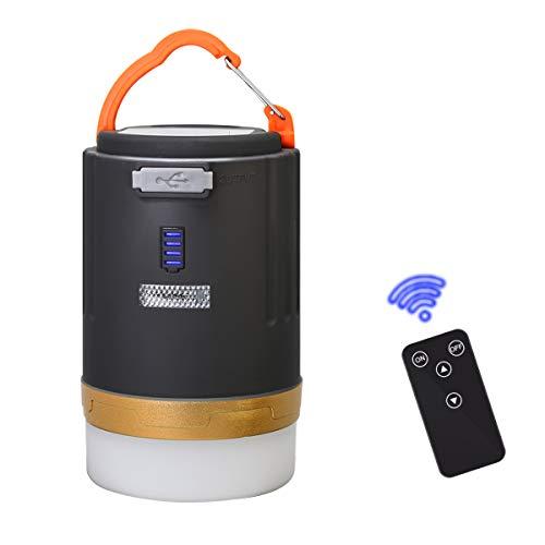 LED Camping Laternen-Fernbedienung USB wiederaufladbar, 4800mAH Power Bank Funktion, Magnetfuß, IPX6 wasserdicht Perfekt für Outdoor, Camping, Wandern, Angeln, Zuhause und Auto
