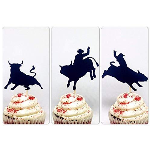 Bullriding cupcake topper; bullriding toppers, Cowboy cupcake topper, cowboy birthday, rodeo cupcake topper, western cupcake, baby cowboy