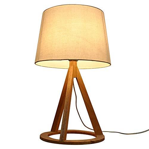 Equipo diario Lámpara de mesa con molduras de madera nórdica Sala de estar minimalista moderna Dormitorio Lámpara de cabecera Estudio Lámpara de protección ocular Moda Simplicidad creativa Luz LED