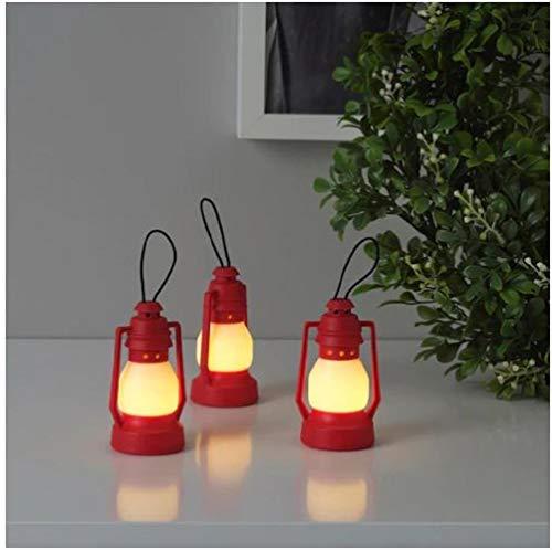 IKEA VINTERFEST LED Deko Beleuchtung Batteriebetrieben Laterne rot 8,5 cm