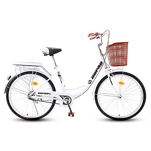 Bicicletas Retro, Bicicletas de CercaníAs, Llantas de 20/24/26 Pulgadas, Marco de Bajo Alcance de Acero con Alto Contenido de Carbono, Que Se Usan para Ir Y Volver Del Trabajo/C / 170cm