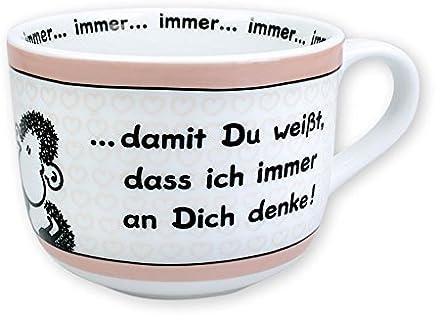 Sheepworld 42691 große Kaffee-Tasse, Tasse mit Spruch damit Du weißt, dass ich immer an dich denke, 62 cl, Porzellan, Geschenk-Tasse preisvergleich bei geschirr-verleih.eu