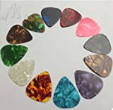 NEW Free 12pcs Multicolor Celluloid Guitar Picks Picks Plectrums Thin 0.46mm by Trading dukan