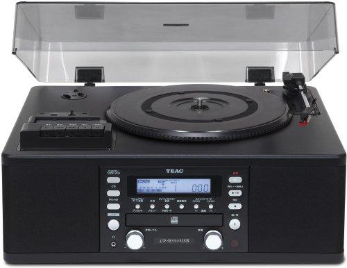Teac LP-R550USB Phono-/Cassetten-/CD-Recorder/Radio-Kombi mit CD/PC-Aufnahme (CD Player, LPs, Musikkassetten, USB, Radiosendungen auf CD kopieren Bass-Reflex-Lautsprecher), Schwarz