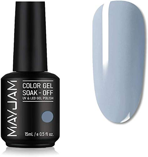 MAYJAM Gel Nagellack 15ML Gel Nägel UV LED Soak Off Gel Polish Semi-Permanent Nail Polish Maniküre Salon DIY zu Hause - Nagellack ja Ideal für Vier Jahreszeiten und Geschenk - Blau