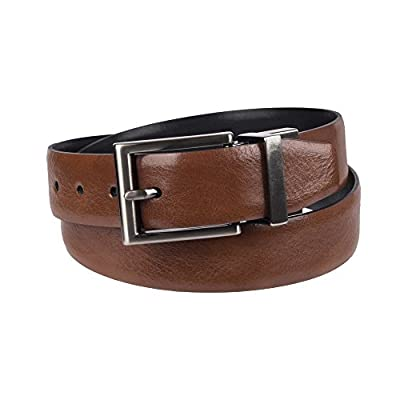 "Chaps Boys' Big 1"" Reversible Dress Casual Belt, brown/black, Medium (26-28)"