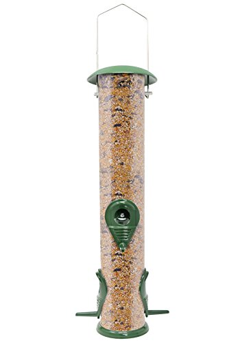 Gray Bunny Classic Metal Tube Feeder Premium Metal Outdoor Birdfeeder with Steel Perches and Steel Hanger Solid Hard Tube ChewProof and Lasts A Lifetime Weatherproof and Water Resistant