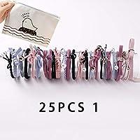 WYHA 8月12日/ 16/20 / 25Pcs新しい女性女の子基本ノット真珠弾性ヘアバンドシュシュポニーテールホルダーヘッドバンドヘアアクセサリーセット (Color : 25pcs 1)