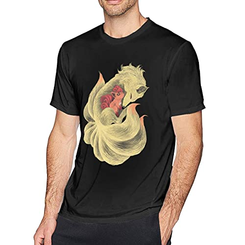 Summer Casual Fashion Abyss Vulpix & Ninetales Flame Tails Tales Short Sleeve T-Shirt T-Shirts à Manches Courtes(Medium)