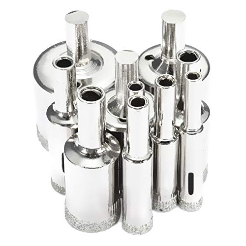 SANON Juego de Sierra de Diamante de 10 Piezas Cortador de Brocas de Sierra para Azulejos Vidrio Porcelana Mármol 6-32 Mm