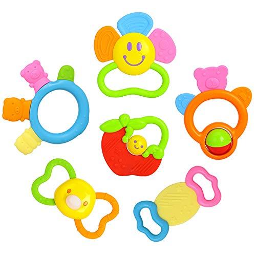 Lihgfw Baby Neugeborene Beißring-Molaren können gekocht Werden, Kinder Babyspielzeug, Rasseln 0-12 Monate können gebissen Werden, hohe Temperatursterilisation (Color : Multi-Colored)