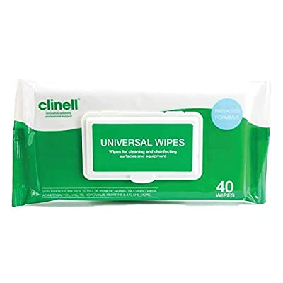 PBS Medicare Best Price (Reduce The Risk) - 2 x 40 Clinell Universal Sanitising Wipes Personal Pack. from PBS Medicare