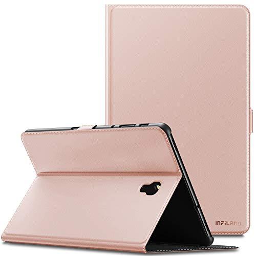 INFILAND Samsung Galaxy Tab A 10.5 Hülle Case, Slim Ultraleicht Halten Schutzhülle Cover Tasche für Galaxy Tab A 10.5 (T590 Wi-Fi/T595 LTE) 2018 (mit Auto Schlaf/Wach Funktion),Rosa Goldene