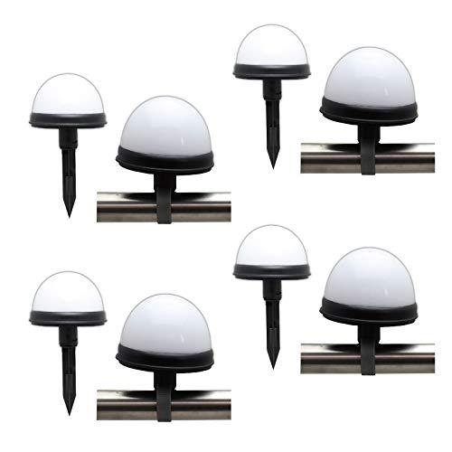 8er Set LED Solarleuchte Geländer Zaun Solar Lampe Kugelleuchte Gartenlampe Außenleuchte Solarlampe Garten Solarkugel Kunststoff