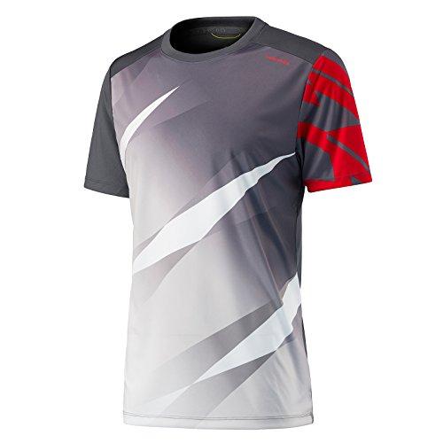 Head Vision Graphic Camiseta de Tenis, Niños, Gris (Anthracite), 140/M