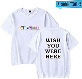 20 styles Hot sale astroworld Top&Tee cheap men/women WISH YOU WERE HERE t-shirt tops boy/girl teenager tshirt Simplicity Letter Print Casual Style Summer FashionTees