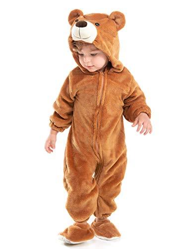 Hsctek Baby Bear Costume, Infant Bear Costume for Baby Boys Girls, Baby Halloween Costume for Toddler Newborn 9-12Months