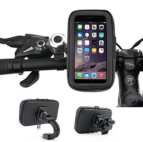Bolsa De Bicicleta para A Prueba De Agua, Bolsa De Teléfono Giratoria De 360° A Prueba De Golpes, Bolsa De Soporte para Teléfono Móvil Aislada con Pantalla Táctil, para por Debajo De 6.5