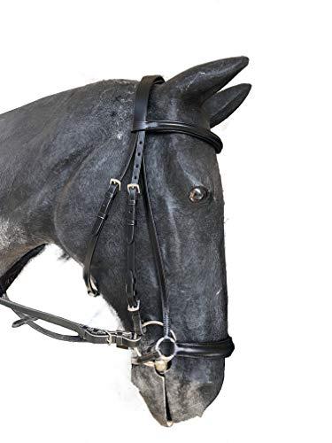 Döbert Trense Kopfstück Farmer, Leder flach, hannoversches Reithalfter, schwarz (WB)
