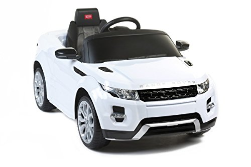 Mondial Toys Auto ELETTRICA Macchina per Bambini 12V con Telecomando Range Rover EVOQUE Colore Bianco