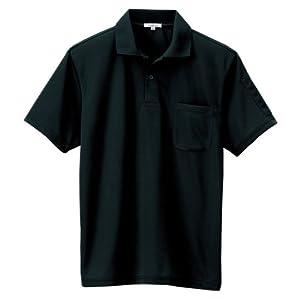 AITOZ(アイトス) 吸汗速乾(クールコンフォート)ペン差し付半袖ポロシャツ #AZ-10601ブラック L