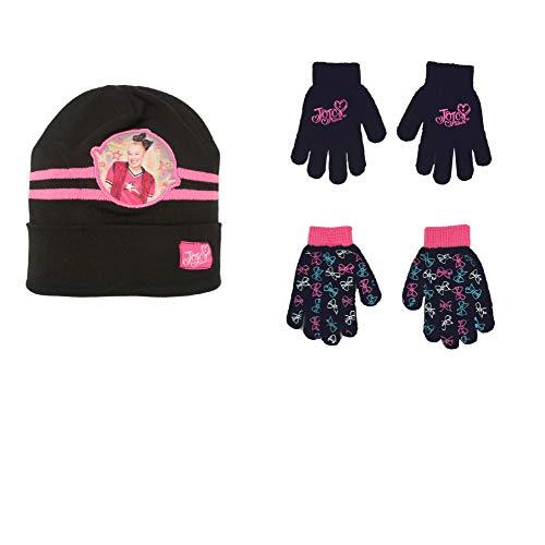 Nickelodeon JoJo Siwa Girls Reversible Winter Hat and 2 Pack Glove Set (Age 4-7) New Mexico