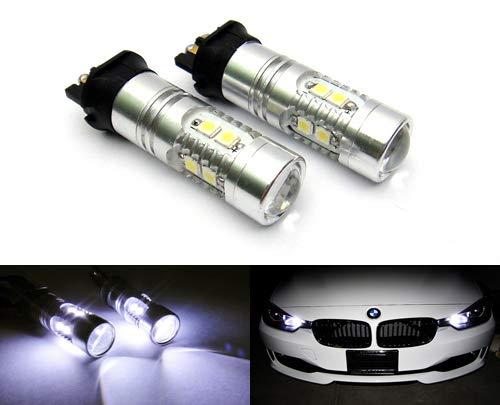 Rzg PW24W PWY24W Lot de 2 ampoules LED pour feux de circulation diurnes compatibles A3 A4 A5 F30 C4 Golf 208 GLK RZG Blanc