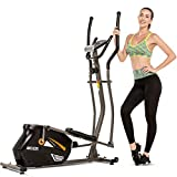 ANCHEER Magnetic Elliptical Machine, Quiet & Smooth, Elliptical Cross Trainer Machine with 10 Levels Resistance and 35lb Flywheel, Best Exercise Machine Trainer for Home Gym Office Workout
