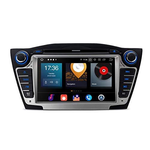 KAUTO 7'Doble DIN Android Car Stereo Bluetooth GPS Car Radio Reproductor de DVD Soporta WiFi Dab + Android Auto CarAutoPlay Cámara de Respaldo de Pantalla Dividida para Hyundai IX35