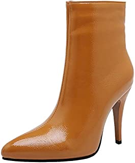 JOJONUNU Women Fashion Stiletto Heels Booties