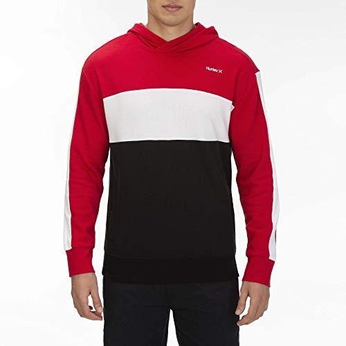 Hurley M Blocked Pullover Sudaderas, Hombre, Gym Red, XL
