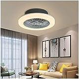 Ventilador de techo con lámpara, 48 W, luces de techo LED regulables con control remoto, 3 velocidades, ajustable, silencioso, creativo, lámpara de araña, accesorio de iluminación para guardería,
