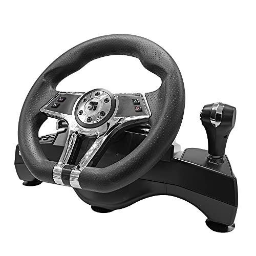 Xtreme Volante Racing con Cambio e Pedaliera Hurricane Wheel Compatibile PS4 / PS3 / PC