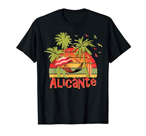 ALICANTE T-shirt Espana Pride Spanish Flag Spain Tee Herren, Größe S Rot