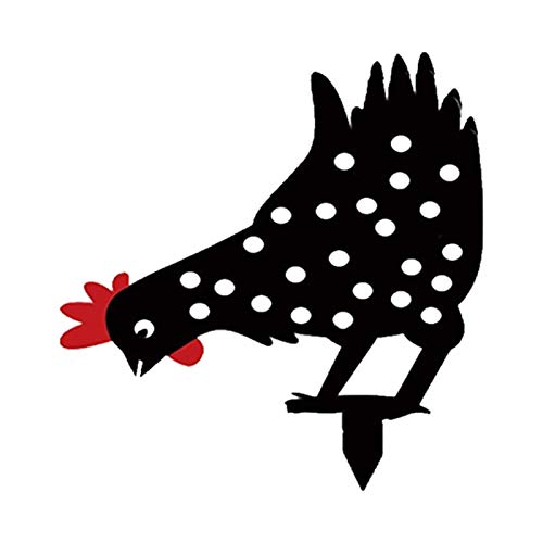 BIUDUI Garden Decoration Chicken, Rooster Animal Silhouette Stake For Yards,Shadow Decoration For Garden,Chicken Silhouette Yard Art,Country Yard Art,Rooster Art For Lawn,Pathway,Sidewalk