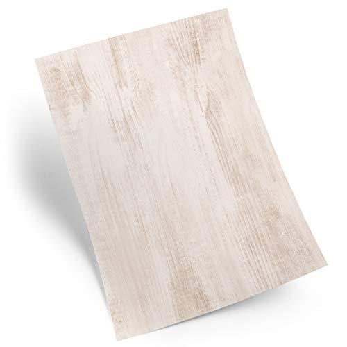 25 Blatt Holz-Optik Briefpapier Motivpapier Holz Struktur DIN A4 Druckerpapier Papier braun hell grau natur alt vintage