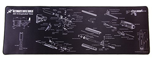 Cheapest Prices! Ultimate Rifle Build Gun Cleaning Mat with Exploded Parts Diagram and Bonus Magneti...