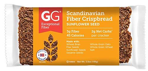 GG Scandinavian Fiber Crispbread, Sunflower Seed, 3.5 Oz (Pack of 15)