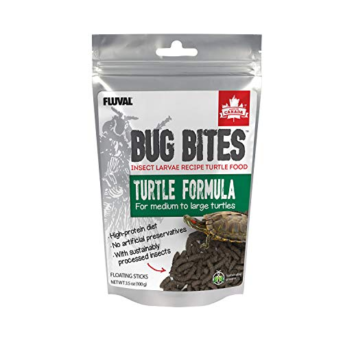Fluval Bug Bites Turtle Food, Sticks for Medium to Large Sized Turtles, 3.53 oz., A6593, Brown