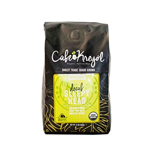 Cafe Kreyol, Coffee Sleepyhead Swiss Water Decaf Organic, 12 Ounce