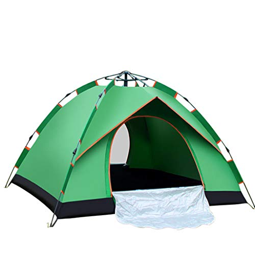 FREEDOL Automatic Hydraulic Opening Tent, Rainproof And Sunproof Tent for 3-4 Persons, Family Camping Tent for Outdoor Camping-210 * 200 * 140Cm,green