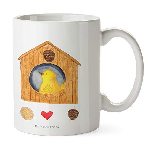 Mr. & Mrs. Panda kantoor, ontbijt, beker Vogelhuisje - Kleur Wit